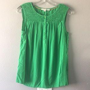Boden-Green sleeveless swing top-SZ 8